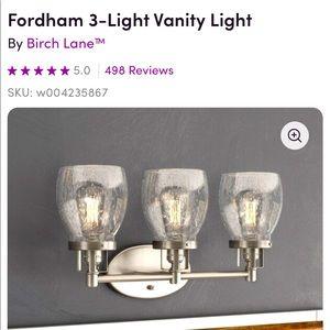 Brand new in box Fordham 3 Light Vanity in Chrome